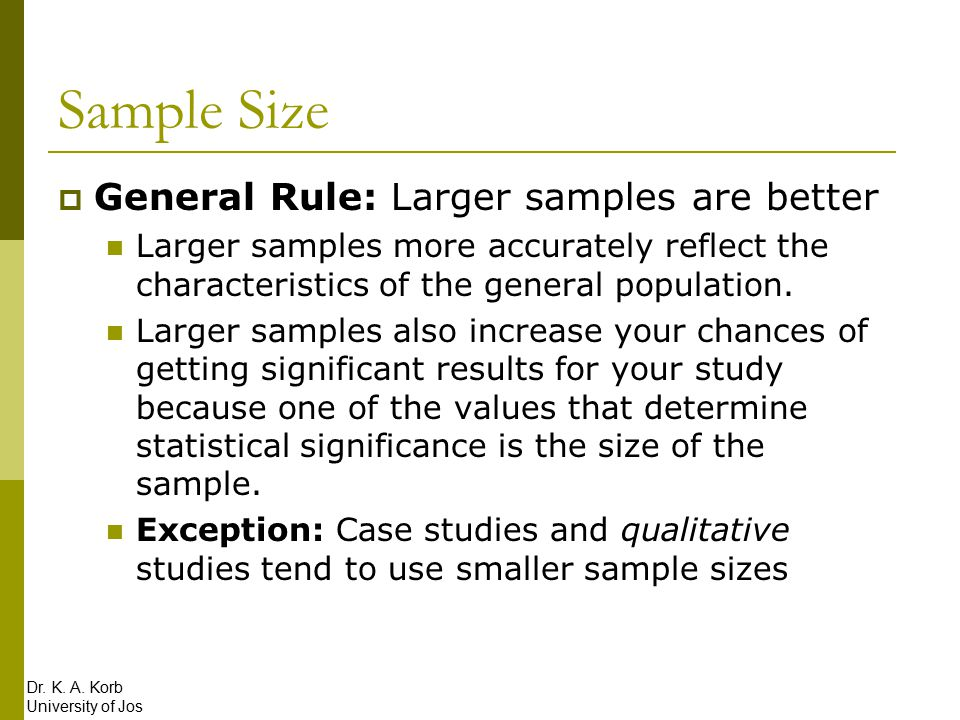 how to determine sample size for quantitative research pdf