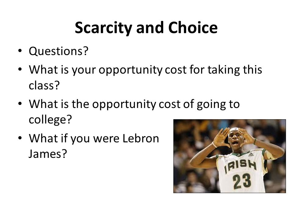 Scarcity and Choice Questions