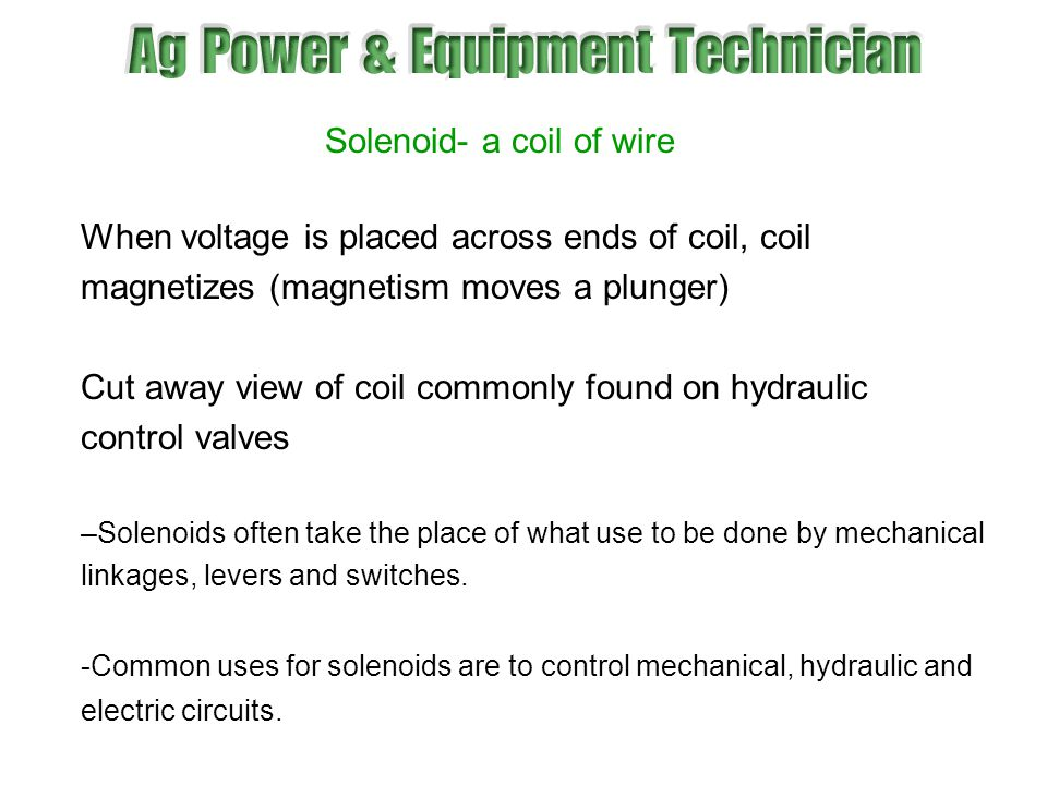 Solenoid- a coil of wire