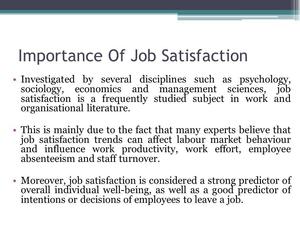 importance of employee satisfaction