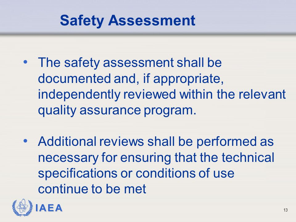 Safety Assessment