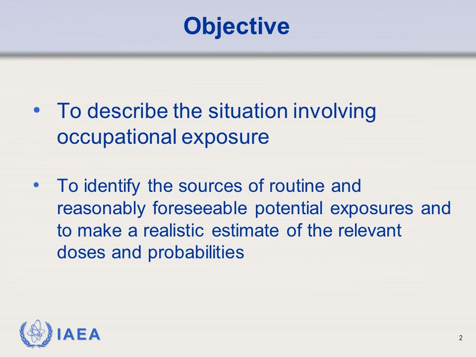Objective To describe the situation involving occupational exposure