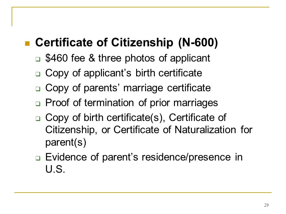 Acquisition And Derivation Of Us Citizenship Ppt Video Online