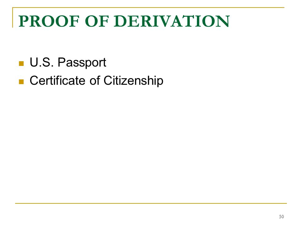 ACQUISITION AND DERIVATION OF U S  CITIZENSHIP - ppt video