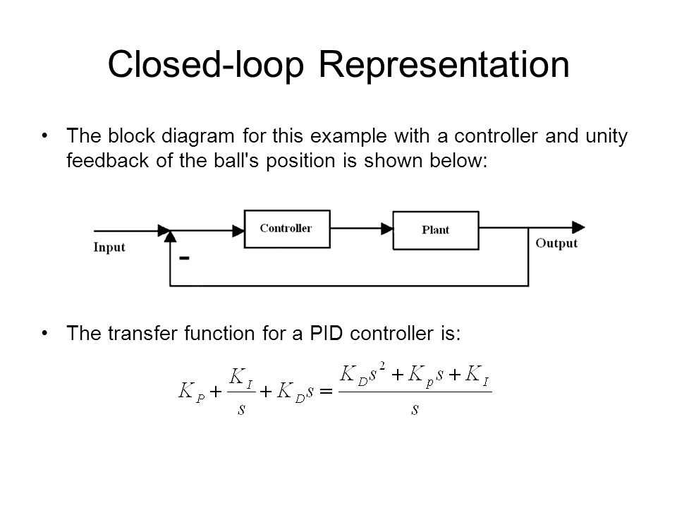 Pid control and root locus method ppt video online download 7 closed loop representation the block diagram for this example with a controller and unity feedback ccuart Image collections