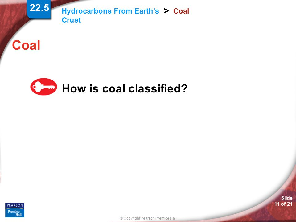 22.5 Coal Coal How is coal classified