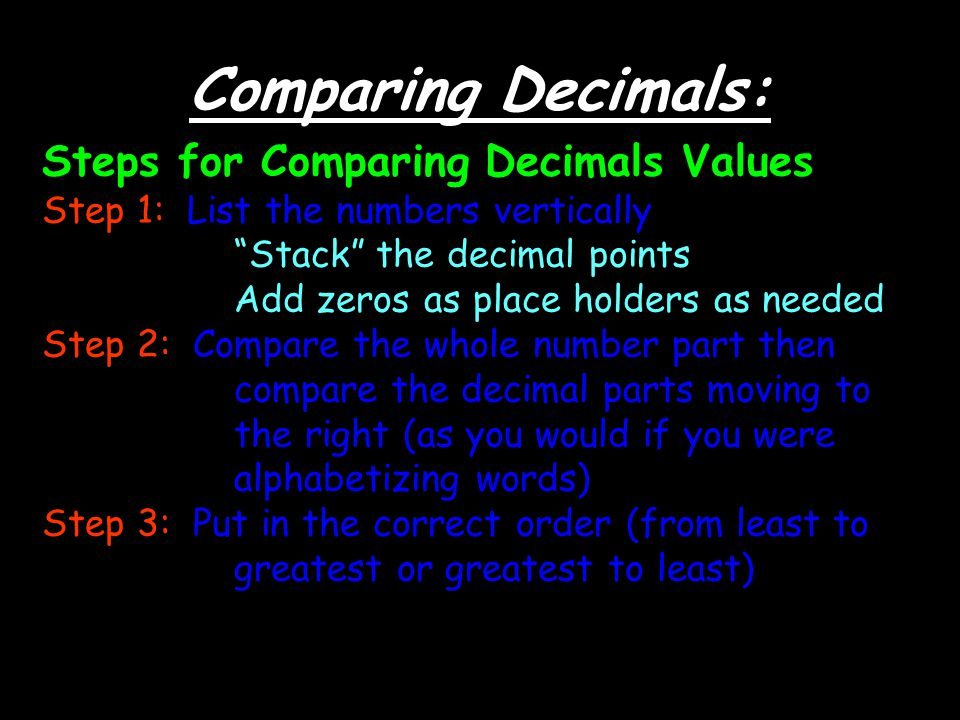 decimal place value decimal points are read as the word and ppt