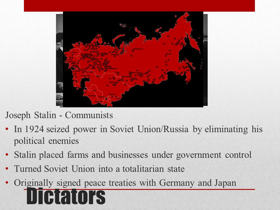 Dictators Joseph Stalin - Communists