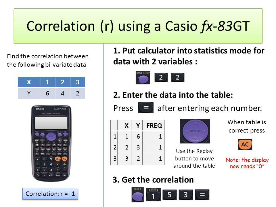 Statistics calculator.