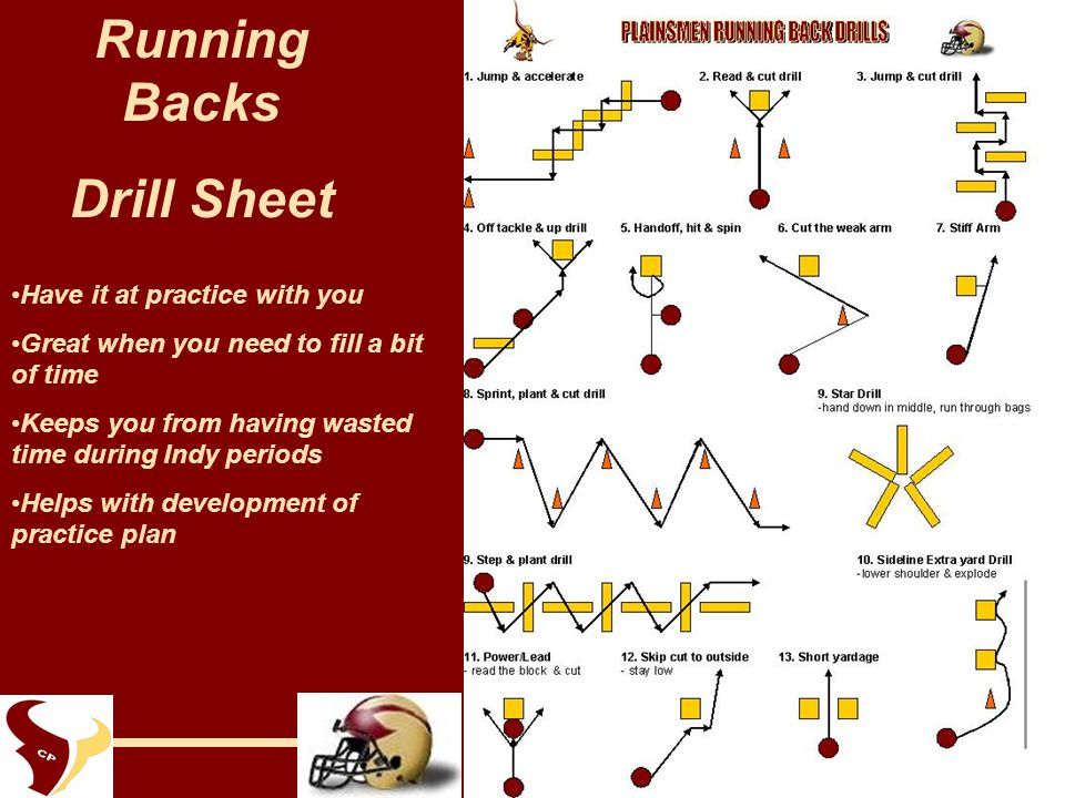 Running Back Skills Amp Drills Ppt Video Online Download