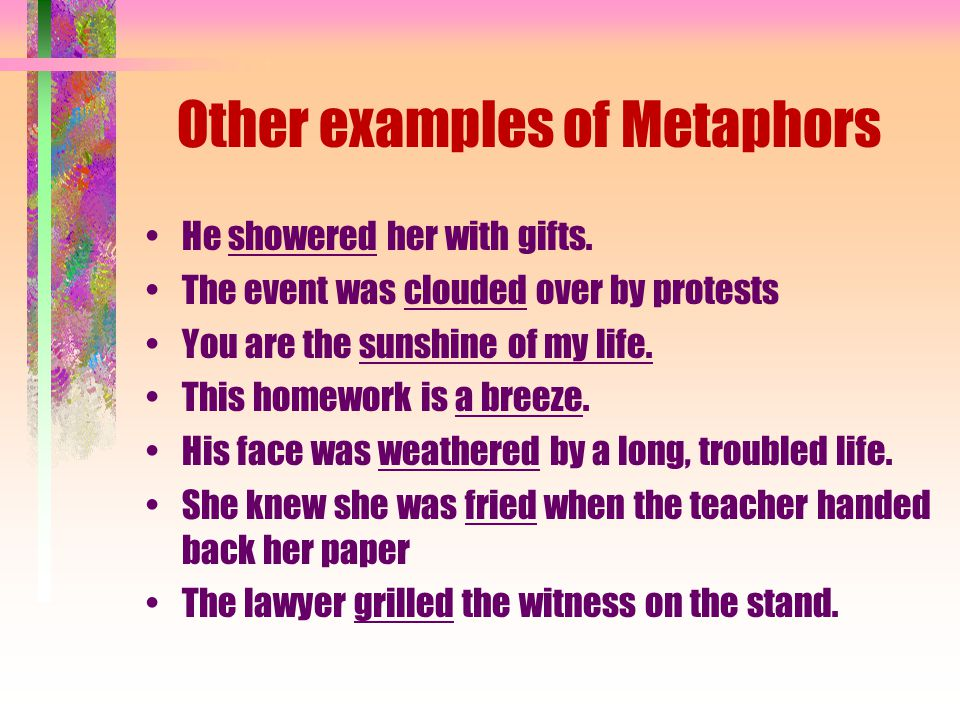 Figurative Language Similes Metaphors Personification Hyperbole