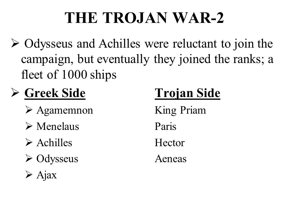 agamemnon and the validity of the trojan war The best overall treatment in english of the evidence for the trojan war is the revised version of michael wood's in search of the trojan war (manchester, 1985) this is basically a mini series of six episodes that look at the finding evidence behind the trojan war.