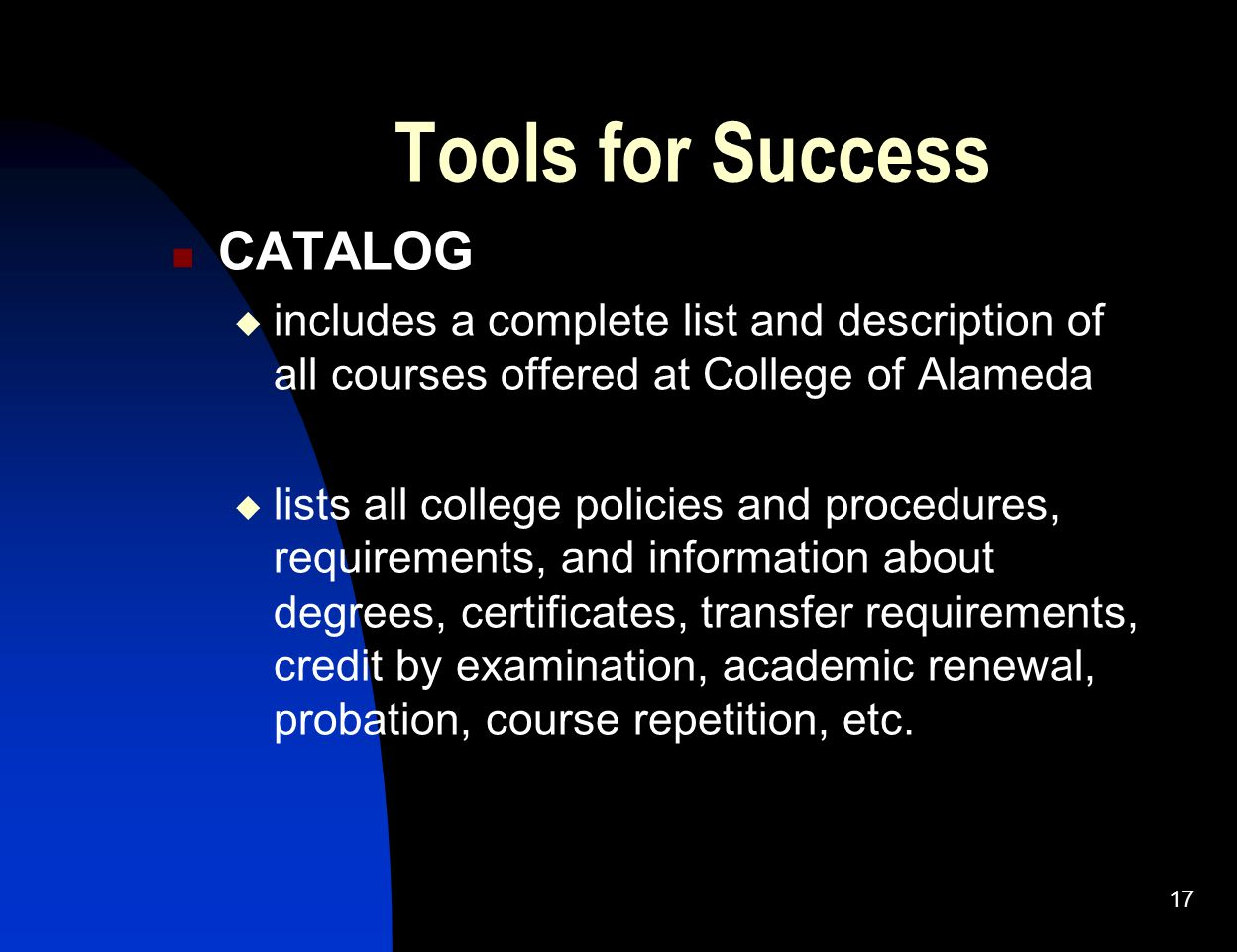 Tools for Success CATALOG