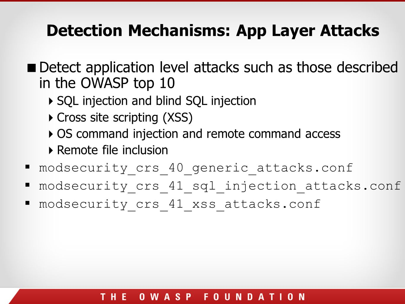 OWASP ModSecurity Core Rule Set (CRS) Project - ppt download