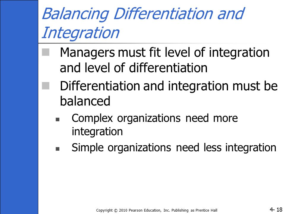 Balancing Differentiation and Integration