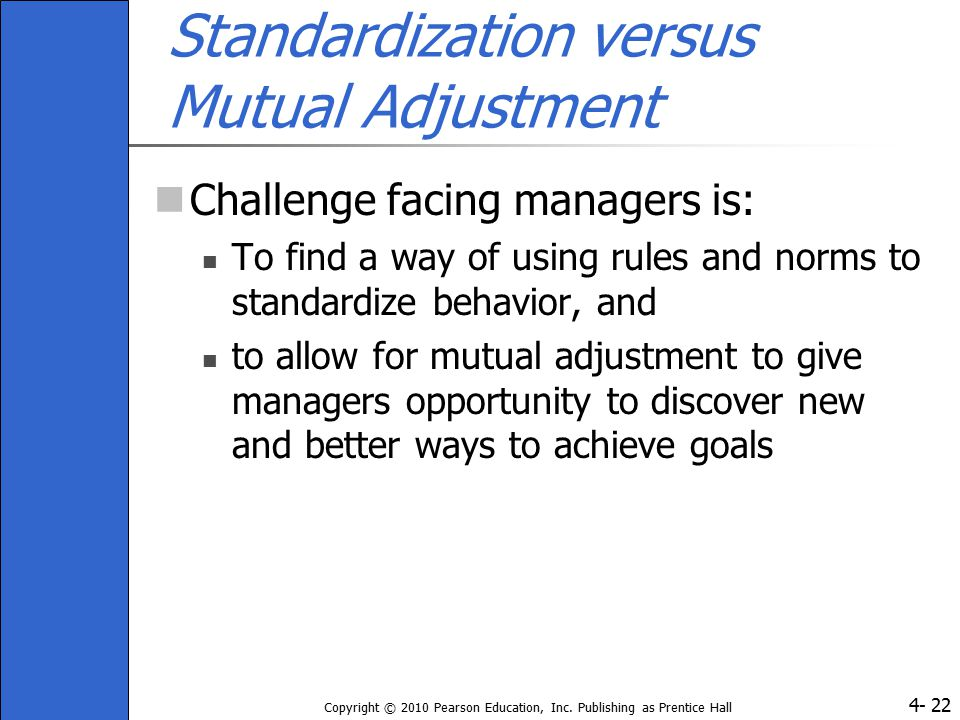 Standardization versus Mutual Adjustment