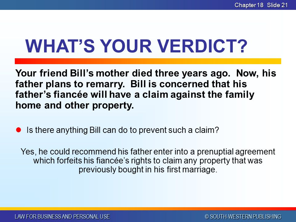 Legal Considerations in Marriage and Divorce - ppt video online download