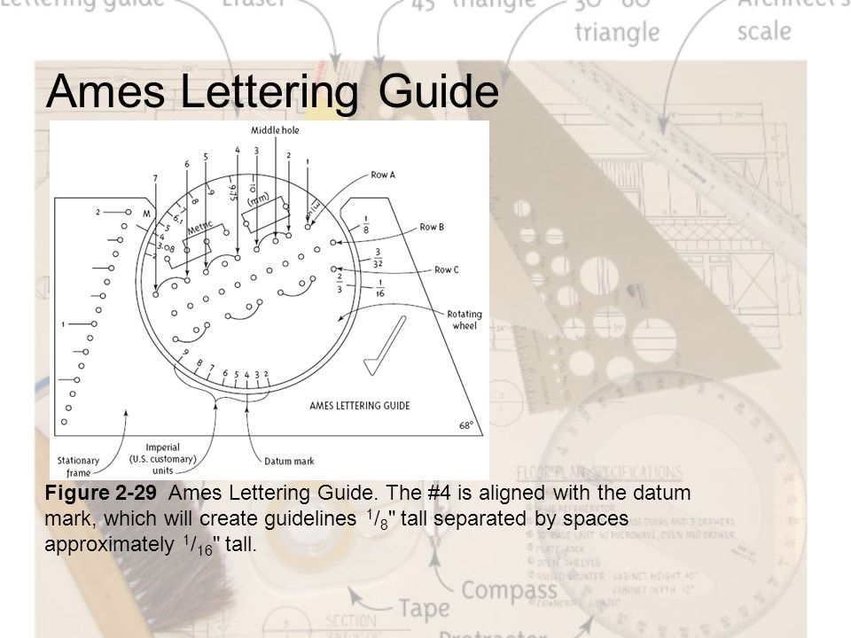 ames lettering guide tools and how to use them ppt 657