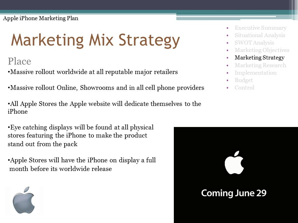 the analysis of apple inc marketing mix
