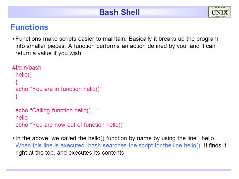 Bash Call Function Get Return Value Returning Values from Bash
