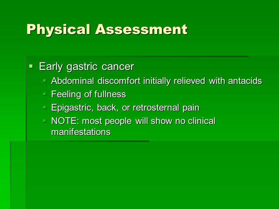 Gastric cancer physical examination. Globule albe din helmintiază