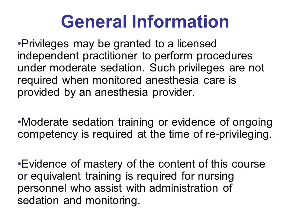 Moderate Sedation In Service Training Web Course Credits Ppt Download