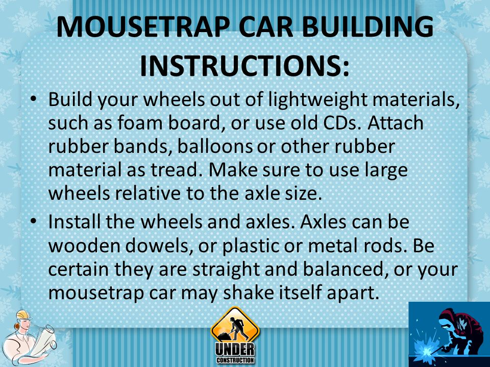 mousetrap car report answers