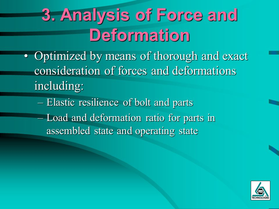 3. Analysis of Force and Deformation