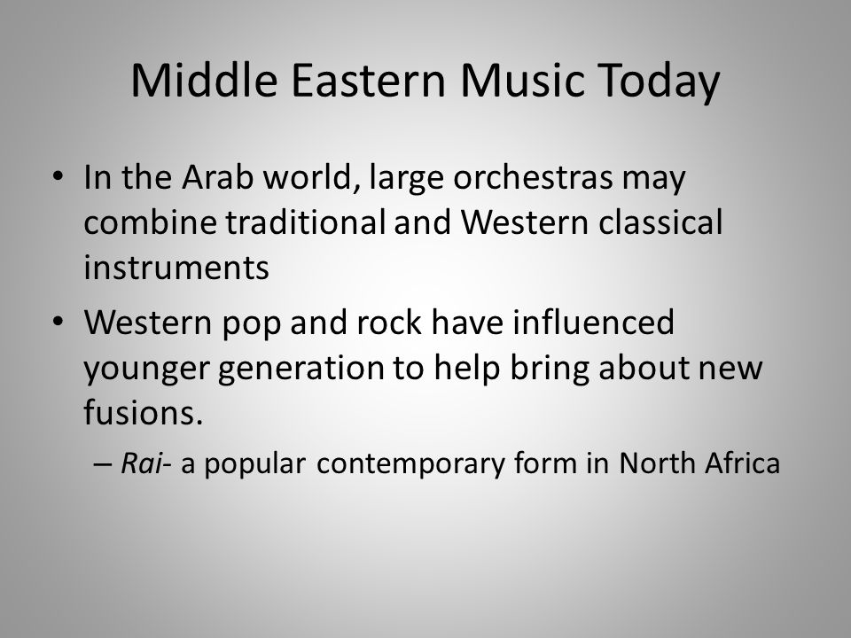 Music of Africa and the Middle East - ppt download