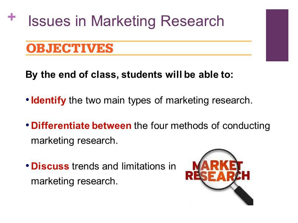types of marketing research essay The research hypothesis is a paring down of the problem into something testable and falsifiable in the above example, a researcher might speculate that the decline in the fish stocks is due to prolonged over fishing.