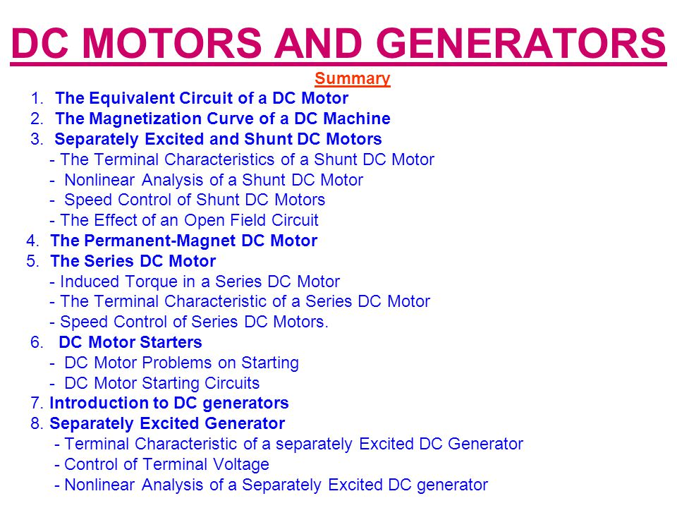 efficiency of dc generator pdf