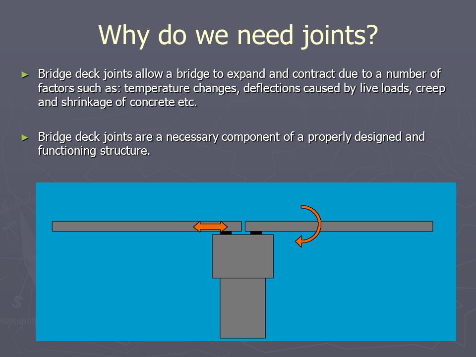 selection and installation of bridge expansion joints