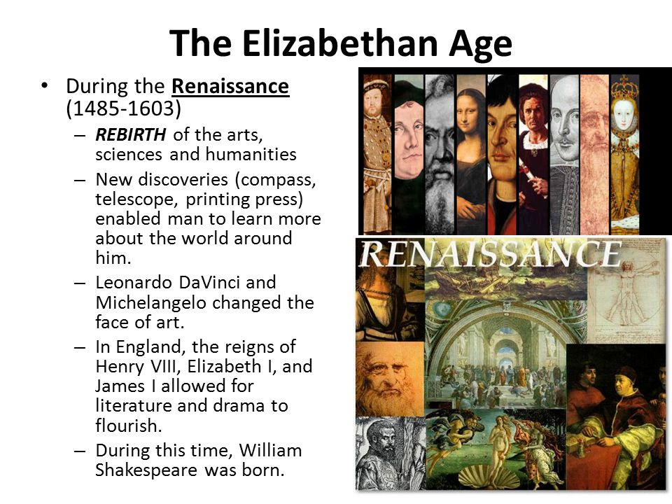 the elizabethan period