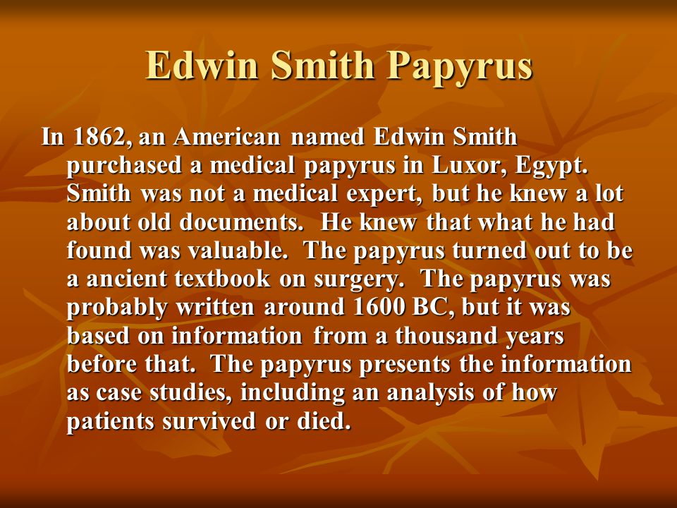 Medical Practices in Ancient Egypt - ppt video online download