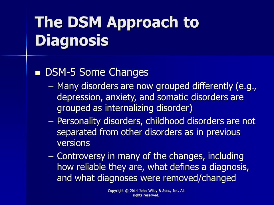 The DSM Approach to Diagnosis