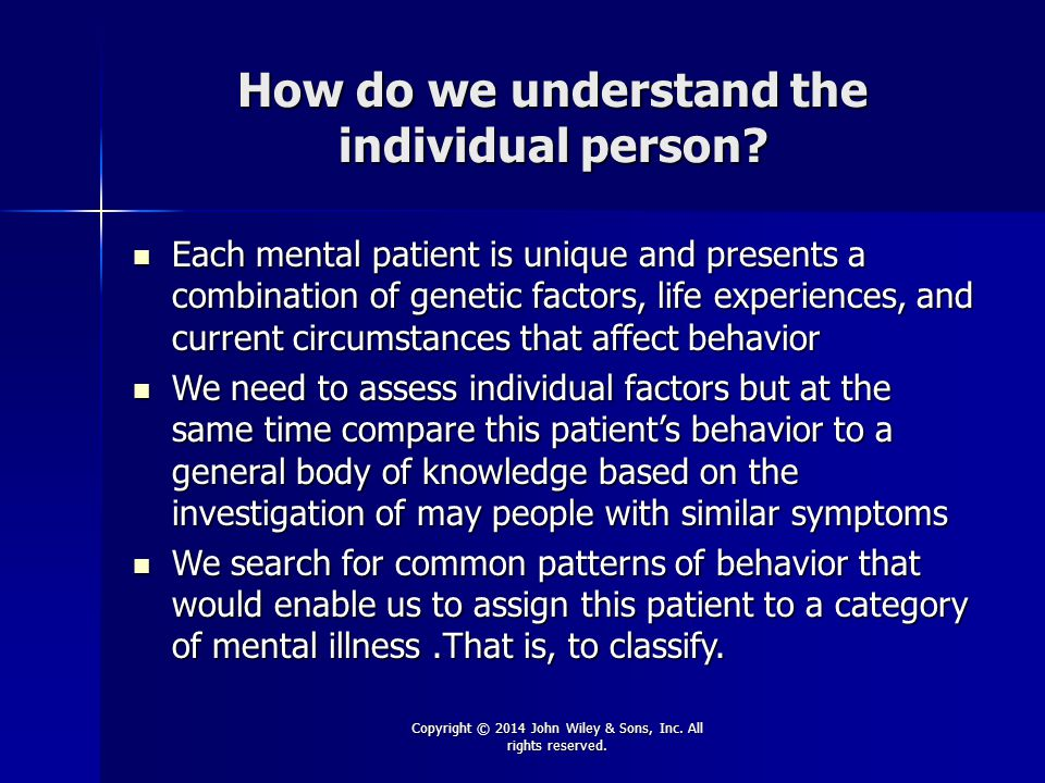 How do we understand the individual person