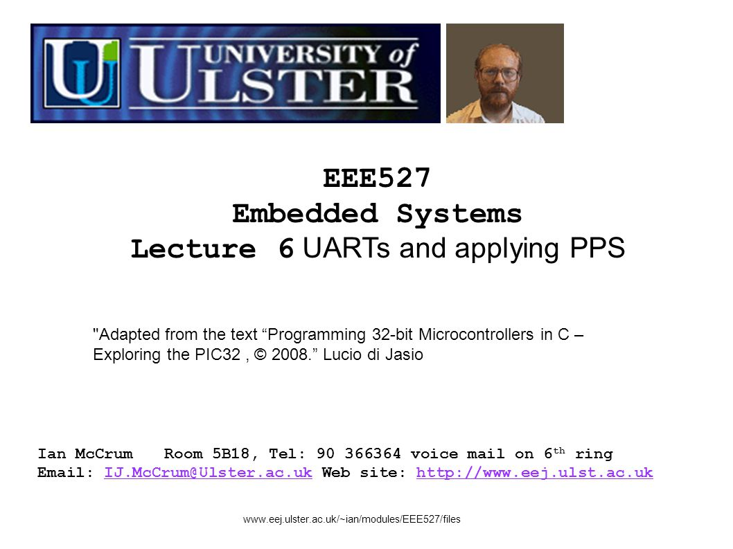 Lecture 6 UARTs and applying PPS - ppt download