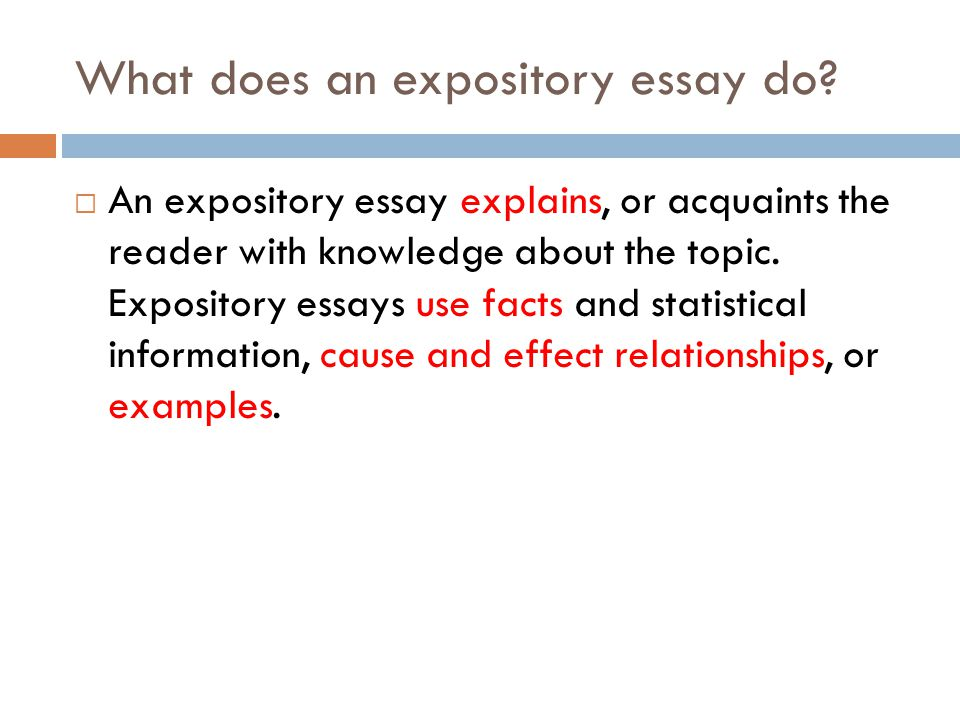 Expository essay Purpose: To Inform. - ppt video online download