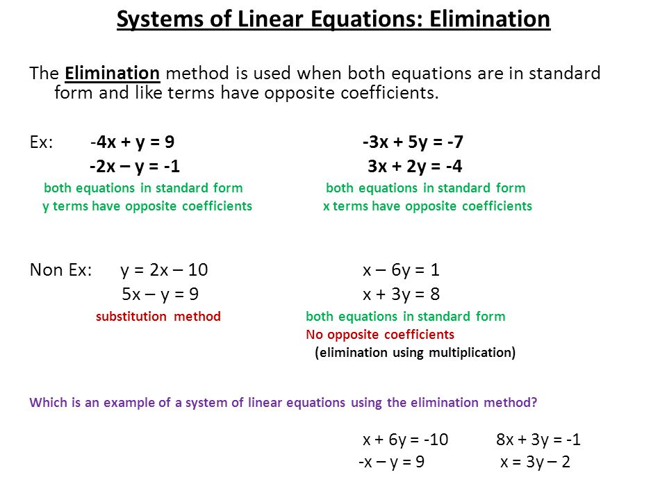 systems of linear equations Systems of linear equations refer to a set of two or more linear equations used to find the value of the unknown variables if the set of linear equations consist of two equations there will be two.
