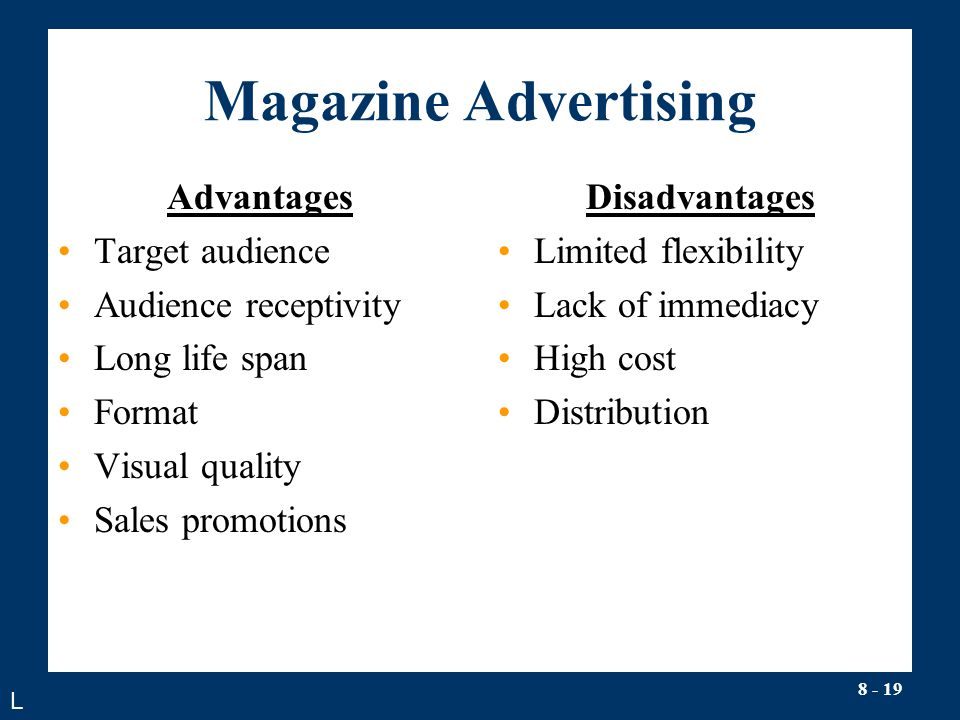 advantages and disadvantages of magazines