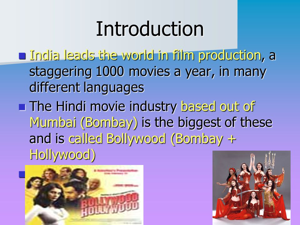 "India: Culture ""Bollywood"" - ppt video online download"