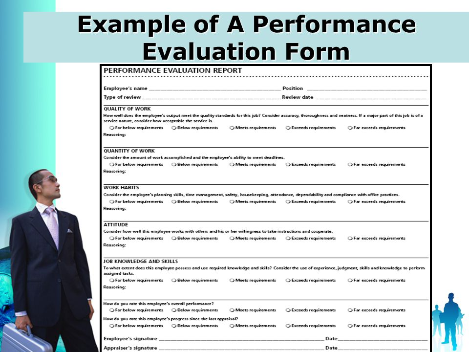 Job Evaluation Form | Performance Evaluation Ppt Video Online Download