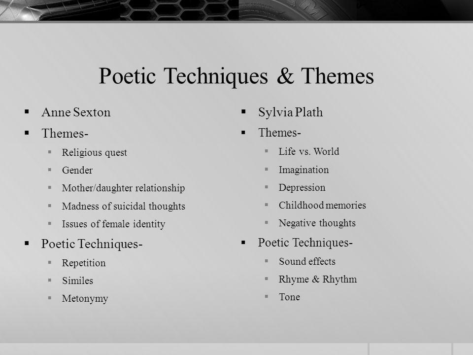 sylvia plath themes