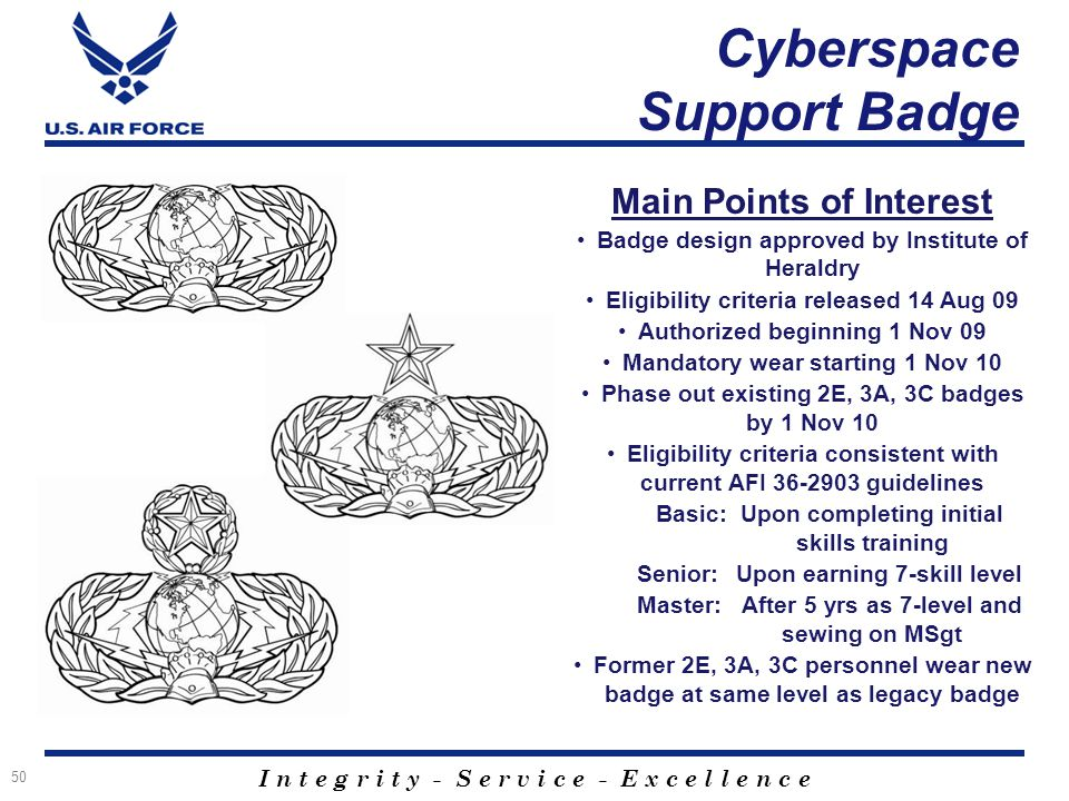 Cyberspace Force Development Ppt Download - Air-force-occupational-badges