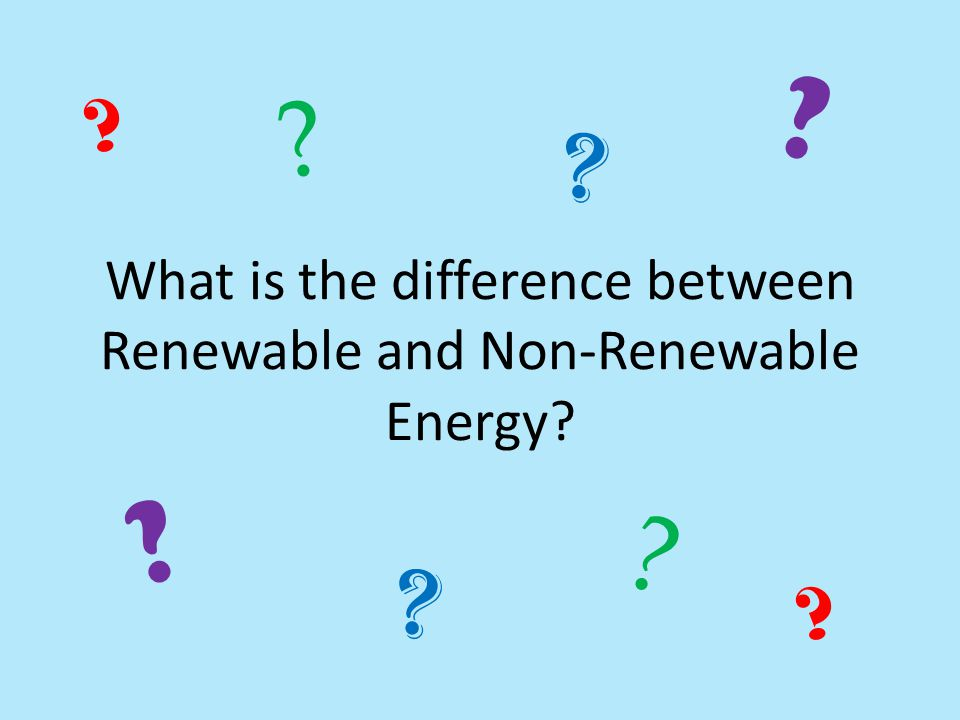 What is the difference between Renewable and Non-Renewable Energy