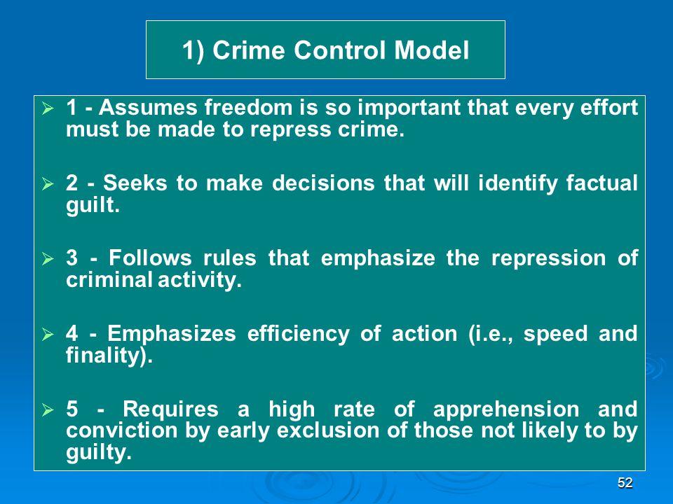 criminal control model