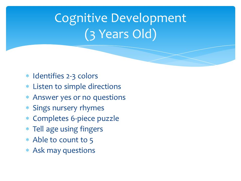 Cognitive Development (3 Years Old)