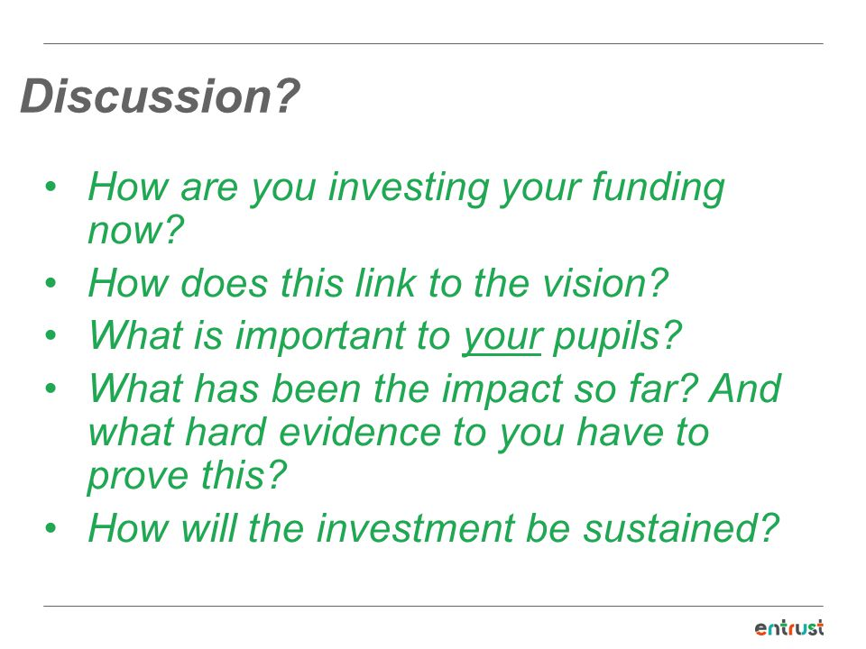 Discussion How are you investing your funding now