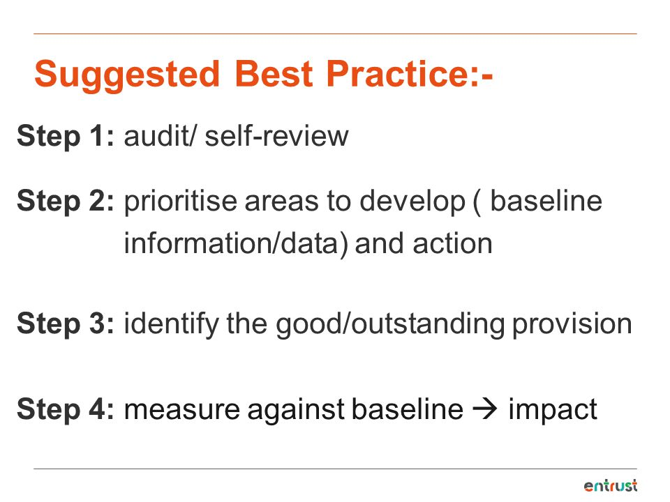 Suggested Best Practice:-