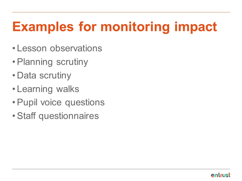 Examples for monitoring impact